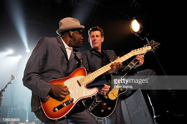 Lynval Golding and Roderick James Byers of 'The Specials' perform on stage at the EWerk on September 24 2011 in Cologne Germany