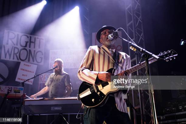 Lynval Golding of The Specials performs on stage at O2 Academy Leeds on April 30 2019 in Leeds England