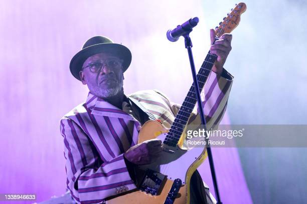 Lynval Golding of The Specials performs on stage at Usher Hall on September 07, 2021 in Edinburgh, Scotland.