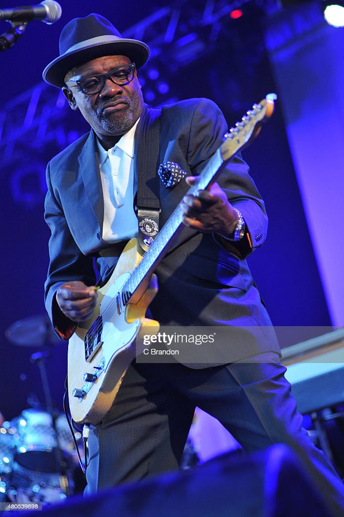 Lynval Golding of The Specials performs on stage during Kew The Music at Kew Gardens on July 12, 2015 in London, England.