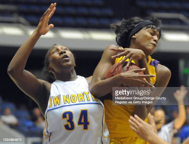 ANAHEIM 03/02/12 Lynwood Lady Knights vs JW North Huskies in the CIF Division 2AA girls basketball final at the Anaheim Arena 2nd half Lynwood won...