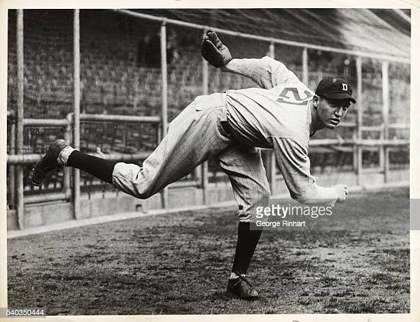 Lynwood Schoolboy Rowe Pitcher for Detroit Tigers in Pitching Stance