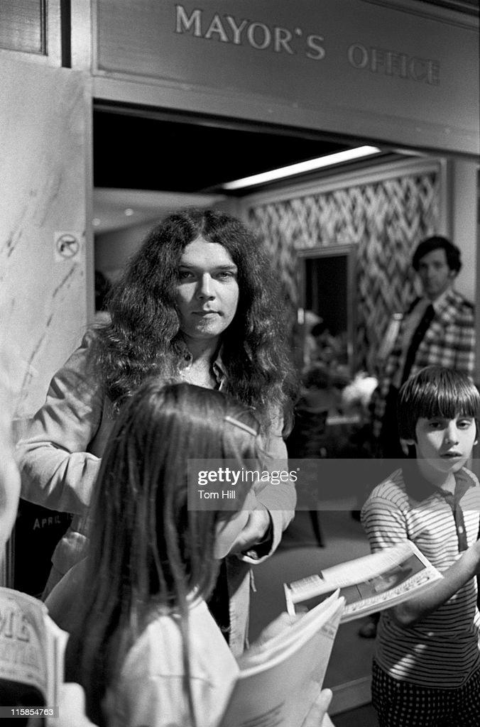 Lynyrd Skynyrd Presents a Gold Album to Mayor of Atlanta - April 15, 1977