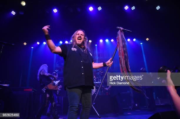 Lynyrd Skynyrd member Johnny Van Zant performs at SiriusXM Presents Lynyrd Skynyrd Live at Buckhead Theatre in Atlanta on March 15 2018 in Atlanta...