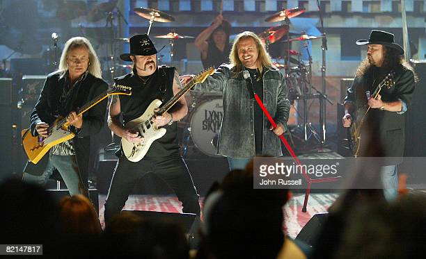 Lynyrd Skynyrd opens the show with 'Sweet Home Alabama' during the Nashville Star live show at the Acuff Theatre in Nashville TN Saturday April 10...