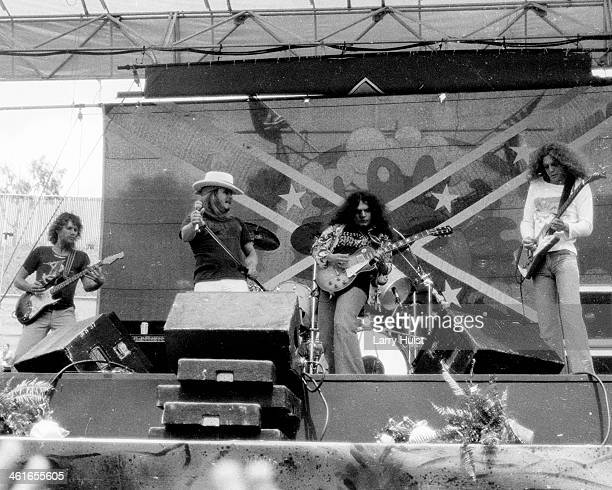 Lynyrd Skynyrd performs at the 'Day on the Green' at he Oakland Coliseum in Oakland CA on May 25 1978