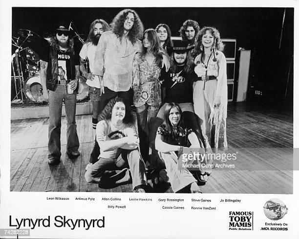 Lynyrd Skynyrd pose for a portrait circa 1976