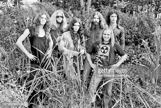 Lynyrd Skynyrd poses for a portrait in September 1974 in Parsippany New Jersey
