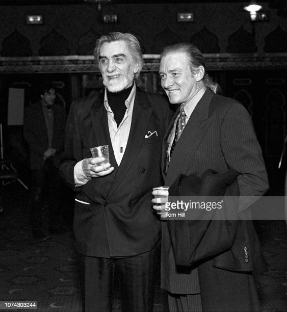"""Lynyrd Skynyrd producer Tom Dowd and manager Alan Walden socialize after the premiere of """"Lynyrd Skynyrd's Freebird...The Movie"""" at the Fabulous Fox..."""