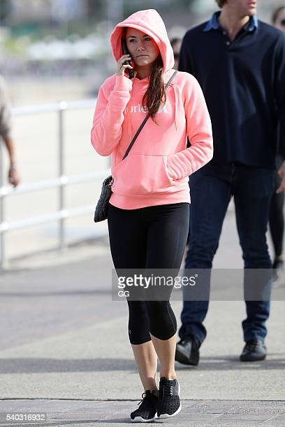 Lynzey Murphy working out with exboyfriend Fred Nunes on June 13 2016 in Sydney Australia The pair broke up last summer but remain good friends