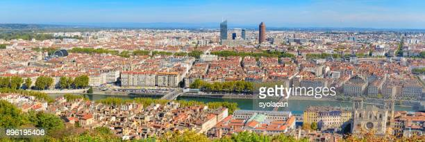 lyon city panorama from above - syolacan stock pictures, royalty-free photos & images
