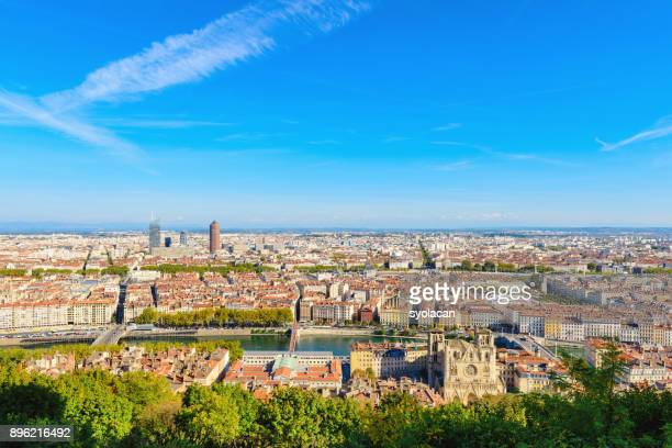 lyon cityscape - syolacan stock pictures, royalty-free photos & images
