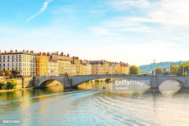 lyon cityscape with pont bonaparte - syolacan stock pictures, royalty-free photos & images