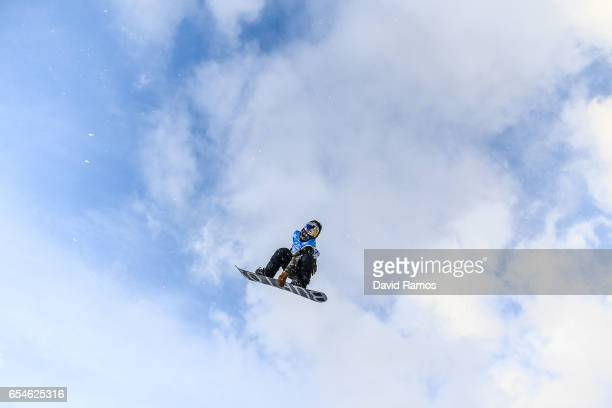 Lyon Farrell of the United States competes in the Men's Snowboard Big Air final on day ten of FIS Freestyle Ski Snowboard World Championships 2017 on...