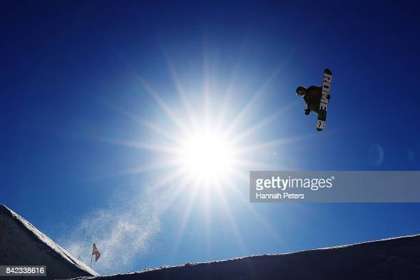 Lyon Farrell of USA competes during Winter Games NZ FIS Men's Snowboard World Cup Slopestyle Finals at Cardrona Alpine Resort on September 4 2017 in...