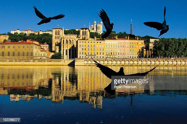 Lyon France and River Saone