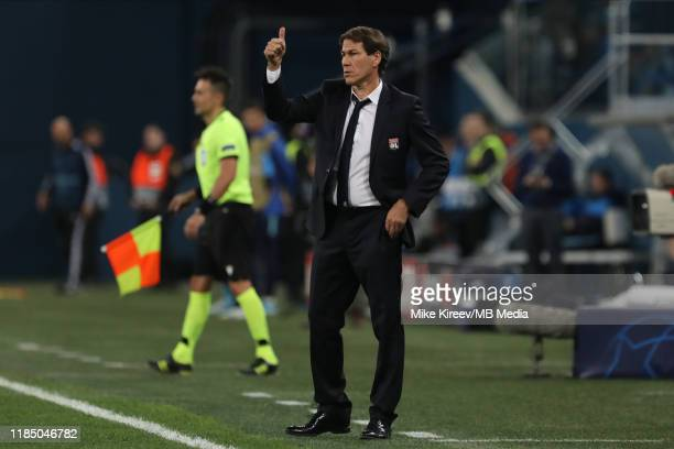 Lyon head coach Rudi Garcia gestures during the UEFA Champions League group G match between Zenit St. Petersburg and Olympique Lyon at Gazprom Arena...