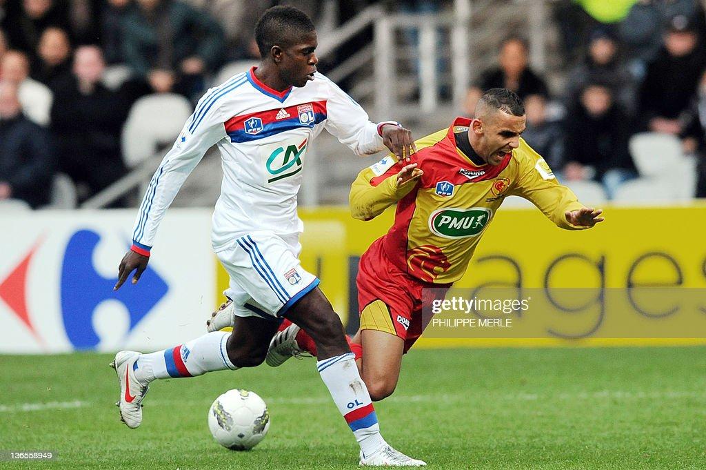 Lyon La Duchere French midfielder Rafik : News Photo