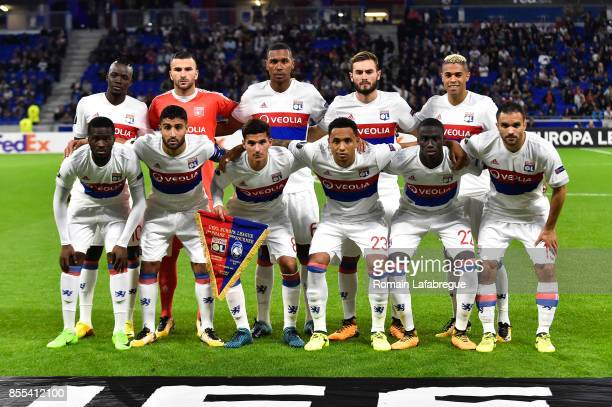 Lyon lineup during the Uefa Europa League match between Lyon and Atalante Bergame on September 28 2017 in Lyon France
