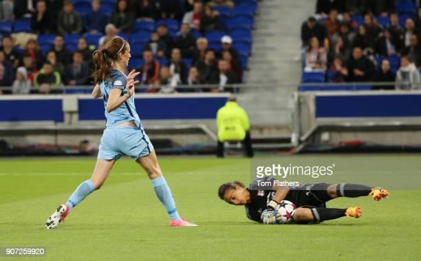 Lyon v Manchester City UEFA Women's Champions League Semi Final Second Leg Parc Olympique Lyonnais Manchester City's Jill Scott in action against...