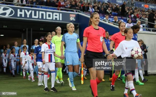 Lyon v Manchester City UEFA Women's Champions League Semi Final Second Leg Parc Olympique Lyonnais Manchester City's Steph Houghton walks out onto...