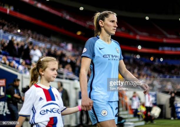 Lyon v Manchester City UEFA Women's Champions League Semi Final Second Leg Parc Olympique Lyonnais Manchester City's Abi McManus walks out to play...