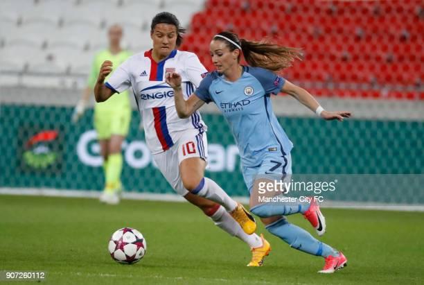 Lyon v Manchester City UEFA Women's Champions League Semi Final Second Leg Parc Olympique Lyonnais Lyon's Dzsenifer Marozsan and Manchester City's...