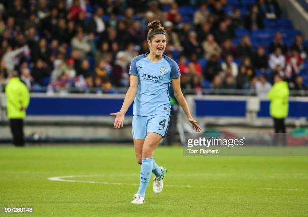 Lyon v Manchester City UEFA Women's Champions League Semi Final Second Leg Parc Olympique Lyonnais Manchester City's Tessel Middag in action against...