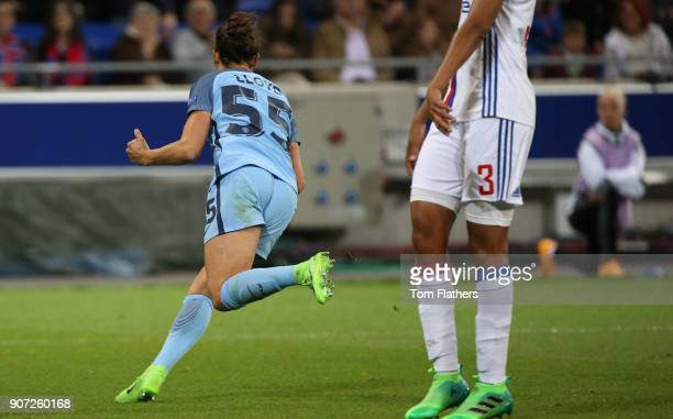 Lyon v Manchester City UEFA Women's Champions League Semi Final Second Leg Parc Olympique Lyonnais Manchester City's Carli Lloyd celebrates scoring...