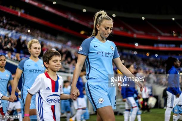 Lyon v Manchester City UEFA Women's Champions League Semi Final Second Leg Parc Olympique Lyonnais Manchester City's Toni Duggan walks out to play...