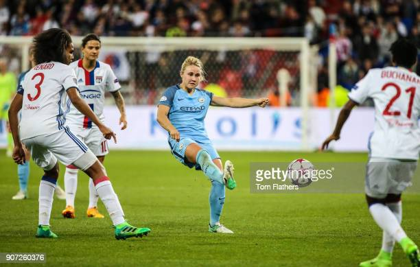 Lyon v Manchester City UEFA Women's Champions League Semi Final Second Leg Parc Olympique Lyonnais Manchester City's Izzy Christiansen in action...