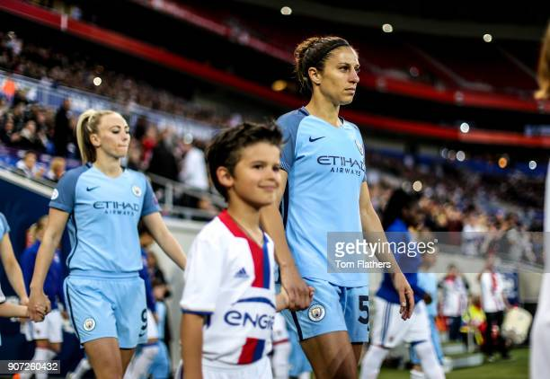 Lyon v Manchester City UEFA Women's Champions League Semi Final Second Leg Parc Olympique Lyonnais Manchester City's Carli Lloyd walks out to play...