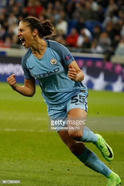 Lyon v Manchester City UEFA Women's Champions League Semi Final Second Leg Parc Olympique Lyonnais Manchester City's Carli Lloyd celebrates after...