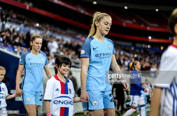 Lyon v Manchester City UEFA Women's Champions League Semi Final Second Leg Parc Olympique Lyonnais Manchester City's Keira Walsh walks out to play...