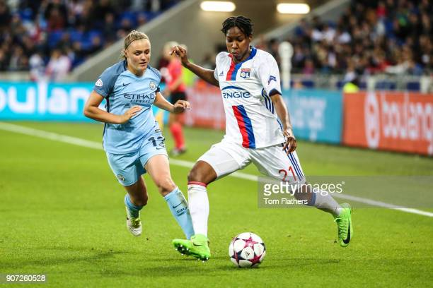 Lyon v Manchester City UEFA Women's Champions League Semi Final Second Leg Parc Olympique Lyonnais Manchester City's Georgia Stanway in action...