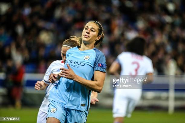 Lyon v Manchester City UEFA Women's Champions League Semi Final Second Leg Parc Olympique Lyonnais Manchester City's Carli Lloyd in action against...