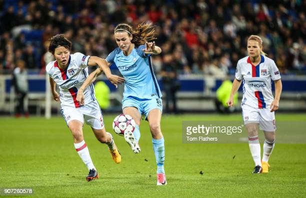 Lyon v Manchester City UEFA Women's Champions League Semi Final Second Leg Parc Olympique Lyonnais Manchester City's Jill Scott in action against...