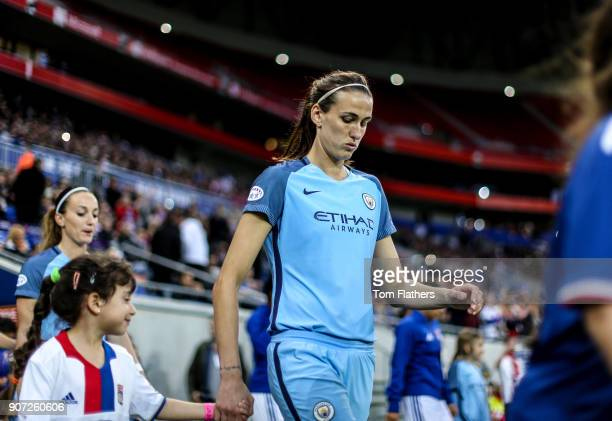 Lyon v Manchester City UEFA Women's Champions League Semi Final Second Leg Parc Olympique Lyonnais Manchester City's Jill Scott walks out to play...