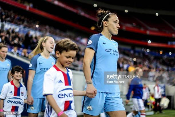 Lyon v Manchester City UEFA Women's Champions League Semi Final Second Leg Parc Olympique Lyonnais Manchester City's Lucy Bronze walks out to play...