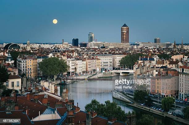 Lyon with full moon