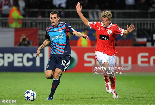 Lyons Anthony Reveillere during the uefa champions League soccer matchGroupBOlympique Lyonnais vs Benfica at Gerland stadium in LyonFrancePhoto by...