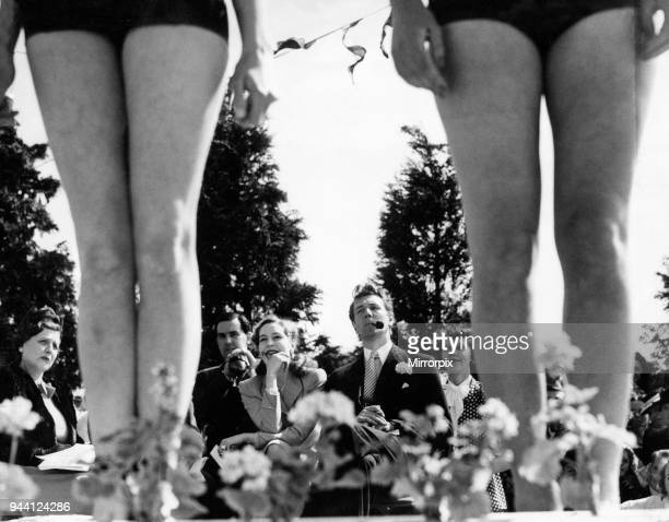 Lyons Carnival 1946 Michael Redgrave and Valerie Hobson judge the beauty competition 1st July 1946