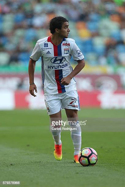 Lyon's defender Rafael da Silva during the Friendly match between Sporting CP and Lyon at Estadio Jose Alvalade on July 23, 2016 in Lisbon, Portugal.