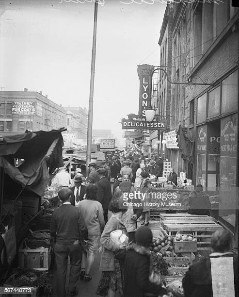 Lyon's Delicatessen on Maxwell Street Chicago Illinois 1930 From the Chicago Daily News collection