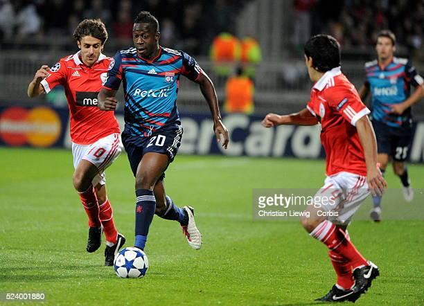 Lyon's duringthe UEFA champions League soccer matchGroup BOlympique Lyonnais vs Benfica at gerland stadium in LyonFrance CORBISCOM Aly Cissokho