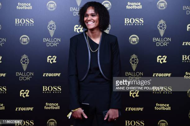 Lyon's French defender Wendie Renard arrives to attend the Ballon d'Or France Football 2019 ceremony at the Chatelet Theatre in Paris on December 2...