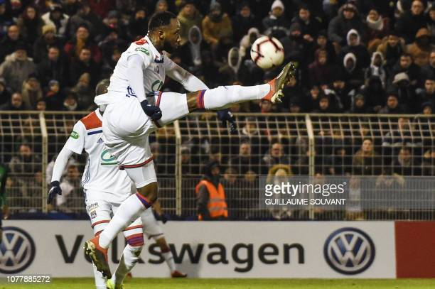 Lyon's French forward Moussa Dembele controls the ball during the French Cup football match between Bourges and Lyon on January 5 at the Jacques...