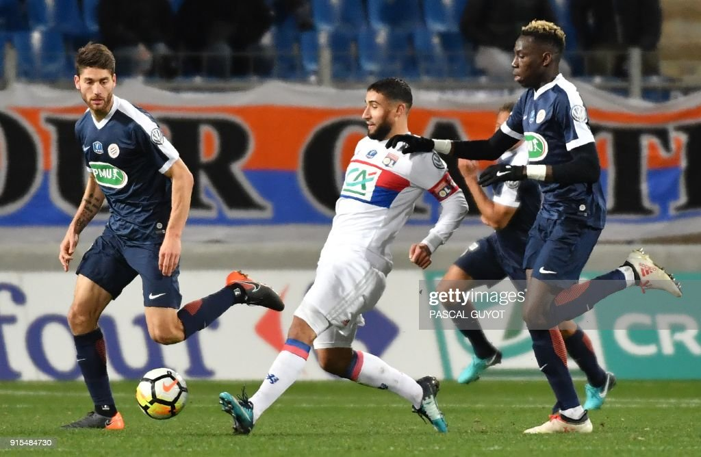 FBL-FRA-CUP-MONTPELLIER-LYON : News Photo