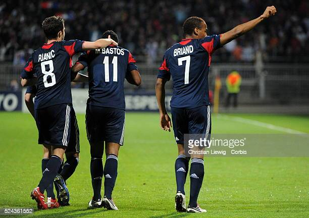 Lyons Jimmy Briand during the uefa champions League soccer matchGroupBOlympique Lyonnais vs Benfica at Gerland stadium in LyonFrancePhoto by...