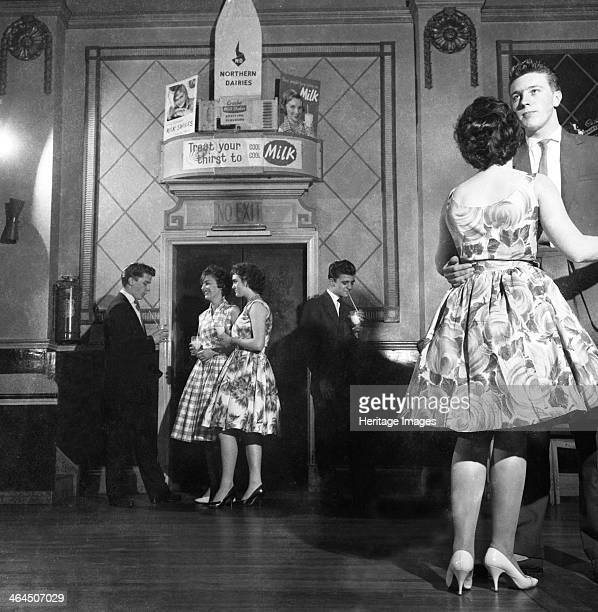 Lyons Maid Drinka Winta Pinta promotional dance Mexborough South Yorkshire 1960 In the days before a television occupied the corner of every living...